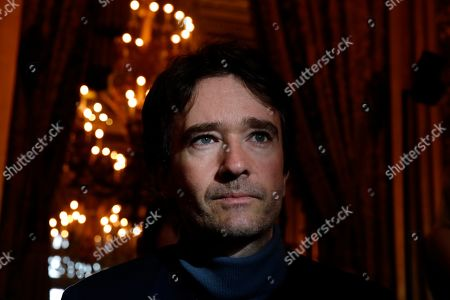 Stock Picture of Antoine Arnault, son of LVMH president Bernard Arnault, arrives at Stella McCartney's fashion collection during Women's fashion week Fall/Winter 2020/21 presented in Paris