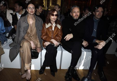 Stock Image of Caitriona Balfe, Isabelle Huppert, Alasdhair Willis and Antoine Arnault in the front row in the front row
