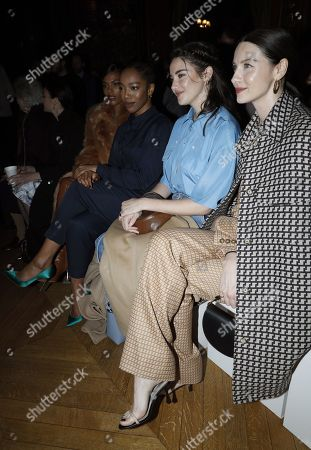 Naomi Ackie, Shailene Woodley, Caitriona Balfe in the front row