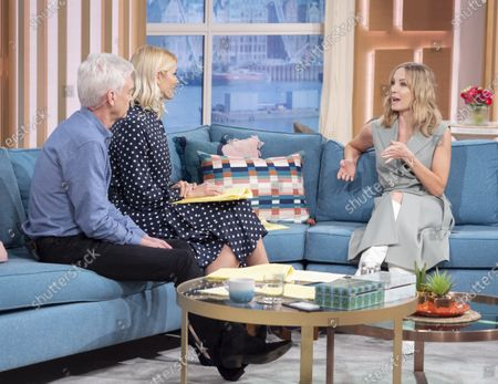 Phillip Schofield and Holly Willoughby with Joanne Froggatt