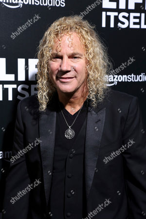 """David Bryan, member of Bon Jovi at the premiere of """"Life Itself"""" in Los Angeles. Bryan, the keyboardist for Bon Jovi is embarking on a busy 2020, with a new album and tour with one of America's favorite rock bands as well as opening his second Broadway musical, """"Diana"""