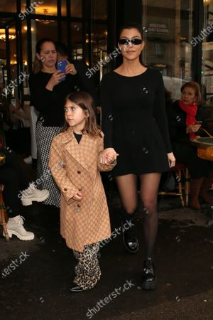 Stock Image of Kourtney Kardashian and Penelope Disick
