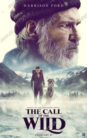 The Call of the Wild (2020) Poster Art. Harrison Ford as John Thornton