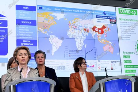 Editorial picture of EU response to COVID-19 press conference, Brussels, Belgium - 02 Mar 2020