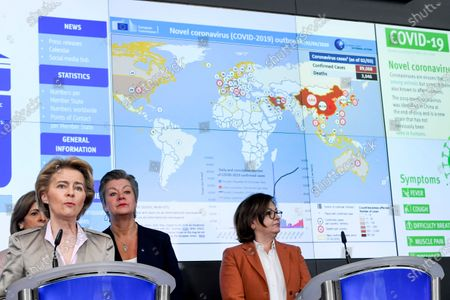 Editorial image of EU response to COVID-19 press conference, Brussels, Belgium - 02 Mar 2020