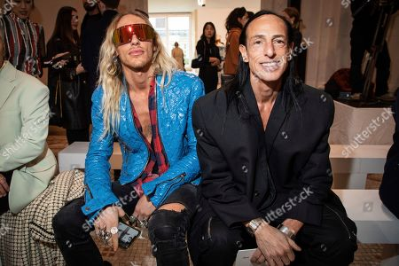 Stock Image of Rick Owens, Tyrone Susman. Rick Owens and Tyrone Susman arrive for the Giambattista Valli fashion collection during Women's fashion week Fall/Winter 2020/21 presented in Paris