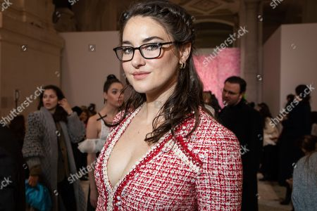 Shailene Woodley arrives for the Giambattista Valli fashion collection during Women's fashion week Fall/Winter 2020/21 presented in Paris