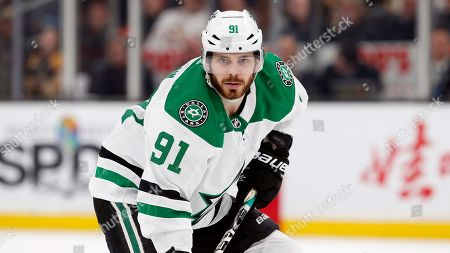 Dallas Stars' Tyler Seguin plays against the Boston Bruins during an NHL hockey game in Boston