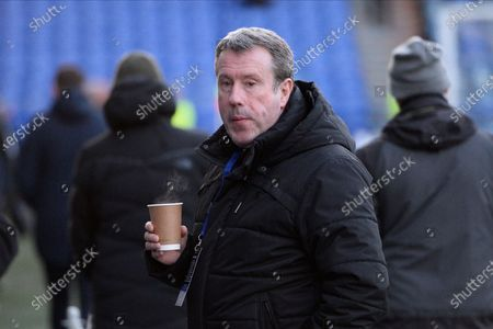 Stock Image of Arsenal legend Paul Merson ahead of the The FA Cup match between Portsmouth and Arsenal at Fratton Park, Portsmouth