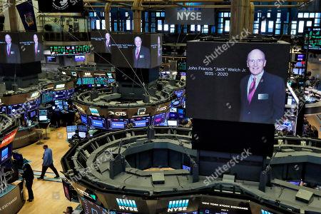 Editorial photo of Financial Markets Wall Street Obit Jack Welch, New York, USA - 02 Mar 2020