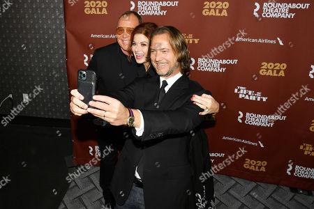 Stock Photo of Michael Kors, Debra Messing, and Lance LePere