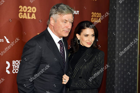 Stock Image of Alec Baldwin and Hilaria Baldwin