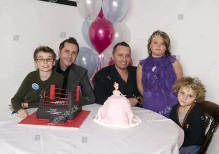 Tony and Barrie Drewitt-Barlow with their ten-year-old twins Aspen and Saffron and son Orlando