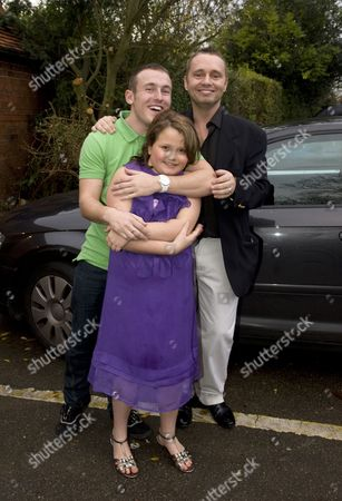 Barrie Drewitt-Barlow with Saffron and 22-year-old son Colin