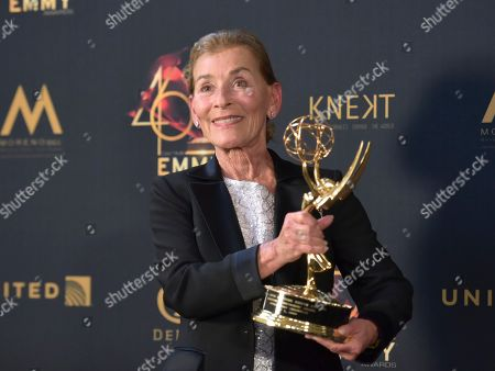 """Lifetime achievement award winner Judge Judy Sheindlin in the press room at the 46th annual Daytime Emmy Awards in Pasadena, Calif. The tough-talking former New York family court judge has ruled her television courtroom since 1996 and her popularity made her the highest-paid personality in TV. She announced on """"Ellen"""" that next season will be her 25th and last making original episodes of """"Judge Judy."""" After that, the 77-year-old mediator will be making a new show called """"Judy Justice"""" that will debut in fall 2021"""