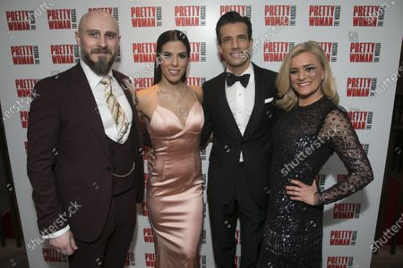 Bob Harms (Happy Man/Mr Thompson), Aimie Atkinson (Vivian Ward), Danny Mac (Edward Lewis) and Rachael Wooding (Kit De Luca)