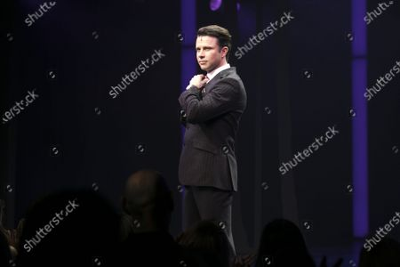 Neil McDermott (Philip Stuckey) during the curtain call