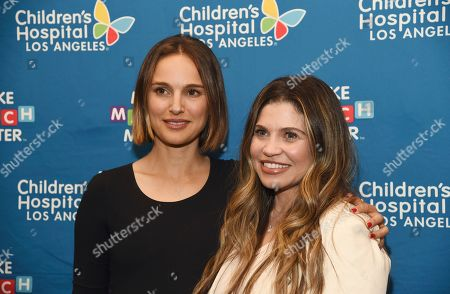 Natalie Portman, Danielle Fishel Karp. Actress Natalie Portman, left, and actress Danielle Fishel Karp, whose child is a patient at Children's Hospital Los Angeles, pose at the launch of the Fifth Annual Make March Matter fundraising campaign for the hospital, in Los Angeles
