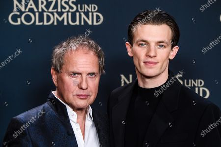 Uwe Ochsenknecht (L) and German actor Jannis Niewoehner attend the premiere of 'Narziss und Goldmund' (Narcissus and Goldmund) in Berlin, Germany, 02 March 2020. The movie based on the book of German-Swiss writer Hermann Hesse will be released in German theatres on 12 March 2020.