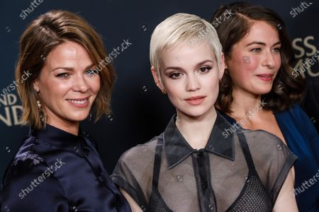 Stock Image of Jessica Schwarz, Emilia Schuele and Henriette Confurius attend the premiere of 'Narziss und Goldmund' (Narcissus and Goldmund) in Berlin, Germany, 02 March 2020. The movie based on the book of German-Swiss writer Hermann Hesse will be released in German theatres on 12 March 2020.