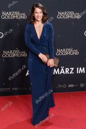 Henriette Confurius attends the premiere of 'Narziss und Goldmund' (Narcissus and Goldmund) in Berlin, Germany, 02 March 2020. The movie based on the book of German-Swiss writer Hermann Hesse will be released in German theatres on 12 March 2020.