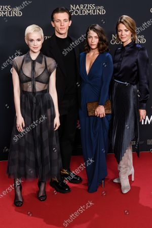 Emilia Schuele, Jannis Niewoehner, Henriette Confurius and Jessica Schwarz attend the premiere of 'Narziss und Goldmund' (Narcissus and Goldmund) in Berlin, Germany, 02 March 2020. The movie based on the book of German-Swiss writer Hermann Hesse will be released in German theatres on 12 March 2020.