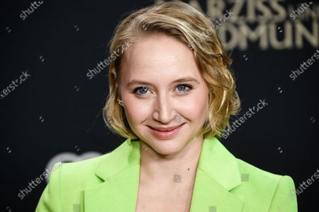 Anna Maria Muehe attends the premiere of 'Narziss und Goldmund' (Narcissus and Goldmund) in Berlin, Germany, 02 March 2020. The movie based on the book of German-Swiss writer Hermann Hesse will be released in German theatres on 12 March 2020.
