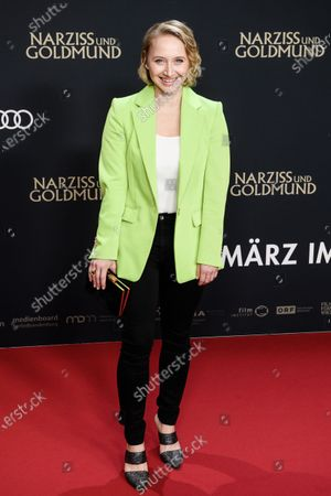 Stock Picture of Anna Maria Muehe attends the premiere of 'Narziss und Goldmund' (Narcissus and Goldmund) in Berlin, Germany, 02 March 2020. The movie based on the book of German-Swiss writer Hermann Hesse will be released in German theatres on 12 March 2020.