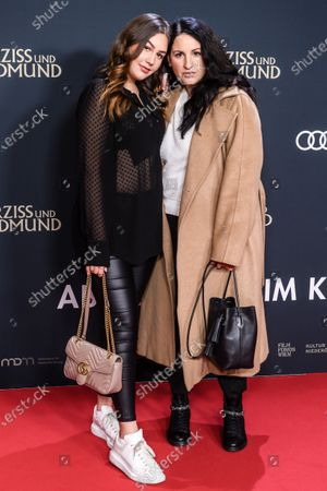 Stock Photo of German-Iranian film producer Minu Barati-Fischer (R) and her daughter Shirin attend the premiere of 'Narziss und Goldmund' (Narcissus and Goldmund) in Berlin, Germany, 02 March 2020. The movie based on the book of German-Swiss writer Hermann Hesse will be released in German theatres on 12 March 2020.
