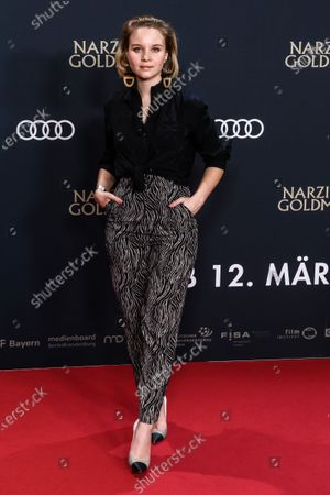 Sonja Gerhardt attends the premiere of 'Narziss und Goldmund' (Narcissus and Goldmund) in Berlin, Germany, 02 March 2020. The movie based on the book of German-Swiss writer Hermann Hesse will be released in German theatres on 12 March 2020.