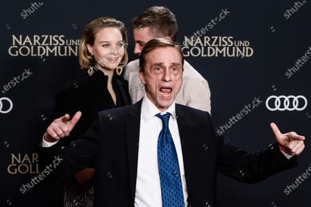 Sonja Gerhardt (L) and German actor Jannik Schuemann (2-L) and German actor Andre Hennicke attend the premiere of 'Narziss und Goldmund' (Narcissus and Goldmund) in Berlin, Germany, 02 March 2020. The movie based on the book of German-Swiss writer Hermann Hesse will be released in German theatres on 12 March 2020.