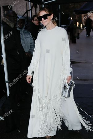 Editorial picture of Valentino show, Arrivals, Fall Winter 2020, Paris Fashion Week, France - 01 Mar 2020