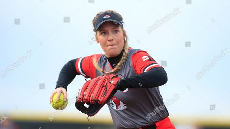 Gardner-Webb's Ansley Lee (14) during an NCAA college softball game against the North Carolina Central University, in Boiling Springs, N.C
