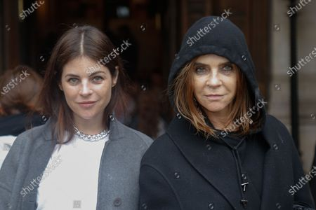 Julia Restoin-Roitfeld and Carine Restoin-Roitfeld