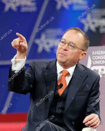 Mick Mulvaney, the acting White House chief of staff, speaking during a discussion at the Conservative Political Action Conference (CPAC) in National Harbor, Maryland, U.S.,. President Trump will address this years CPAC after dealing with the coronavirus and how the U.S. plans to stop it from spreading.