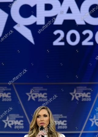 Lara Yunaska Trump, campaign adviser to President Trump. and wife of Eric Trump, speech during a discussion at the Conservative Political Action Conference (CPAC) in National Harbor, Maryland, U.S.,. President Trump will address this years CPAC after dealing with the coronavirus and how the U.S. plans to stop it from spreading.