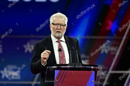 Stock Image of Glenn Beck, Blaze TV speech at the Conservative Political Action Conference (CPAC) at the Gaylord National Resort and Convention Center in National Harbor