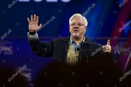 Stock Photo of Glenn Beck, Blaze TV speech at the Conservative Political Action Conference (CPAC) at the Gaylord National Resort and Convention Center in National Harbor