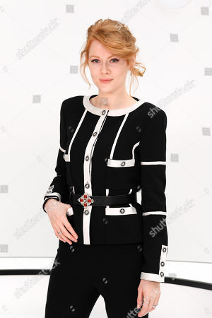Stock Image of Emily Beecham in the front row
