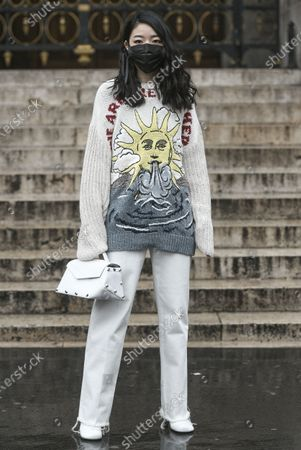 Editorial image of Street Style, Fall Winter 2020, Paris Fashion Week, France - 02 Mar 2020