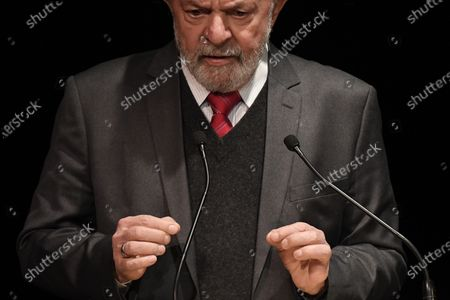 Former Brazilian President Luis Inacio Lula da Silva delivers a speech during a campaign rally of Paris Mayor Anne Hidalgo in Paris, France, 02 March 2020. The first round of the mayoral elections will be held 15 March and the final round 22 March 2020.