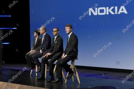 Nokia Vice Chairman Sari Baldauf, new President and CEO Pekka Lundmark, resigning President and CEO Rajeev Suri and Chairman of the Board Risto Siilasmaa