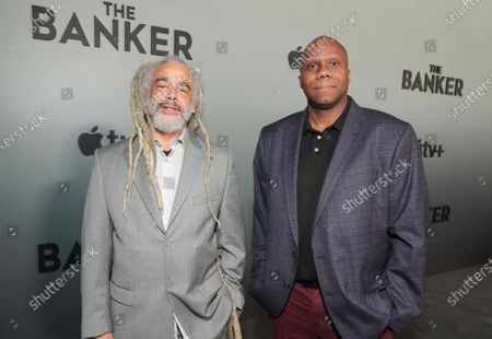 "Stock Picture of David Lewis Smith, Writer/Screenwriter/Producer, and Stan Younger, Writer, attend Apple's ""The Banker"" premiere at The National Civil Rights Museum. ""The Banker"" opens in select theaters on March 6, before premiering globally on Apple TV+ on March 20."