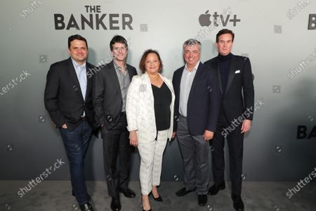 "Matt Dentler, Head of Feature Development and Acquisitions, Apple, Jamie Erlicht, Head of Worldwide Video, Apple, Lisa Jackson, Vice President of Environment, Policy and Social Initiatives, Apple, Eddy Cue, Senior Vice President of Internet Software and Services, Apple, and Zack Van Amburg, Head of Worldwide Video, Apple, attend Apple's ""The Banker"" premiere at The National Civil Rights Museum. ""The Banker"" opens in select theaters on March 6, before premiering globally on Apple TV+ on March 20."