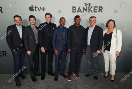 "Matt Dentler, Head of Feature Development and Acquisitions, Apple, Jamie Erlicht, Head of Worldwide Video, Apple, Zack Van Amburg, Head of Worldwide Video, Apple, Anthony Mackie, Samuel L. Jackson, Eddy Cue, Senior Vice President of Internet Software and Services, Apple, and Lisa Jackson, Vice President of Environment, Policy and Social Initiatives, Apple, attend Apple's ""The Banker"" premiere at The National Civil Rights Museum. ""The Banker"" opens in select theaters on March 6, before premiering globally on Apple TV+ on March 20."