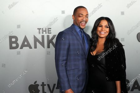 "Anthony Mackie and Nia Long attend Apple's ""The Banker"" premiere at The National Civil Rights Museum. ""The Banker"" opens in select theaters on March 6, before premiering globally on Apple TV+ on March 20."