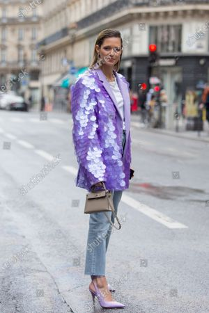 Editorial picture of Street Style, Fall Winter 2020, Paris Fashion Week, France - 02 Mar 2020