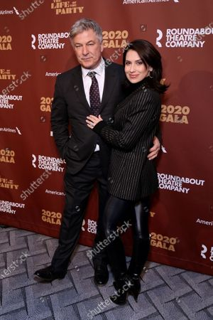 Stock Picture of Alec Baldwin and Hilaria Baldwin