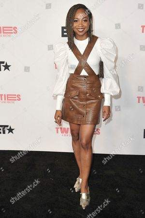 """Sheria Irving attends the LA premiere of """"Twenties"""" at Paramount Pictures Studio, in Los Angeles"""