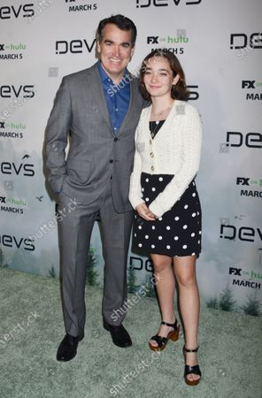 Brian d'Arcy James and Grace James
